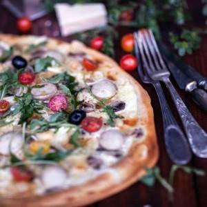 Pizza blanche au boudin blanc ブーダンブランのホワイトピザ